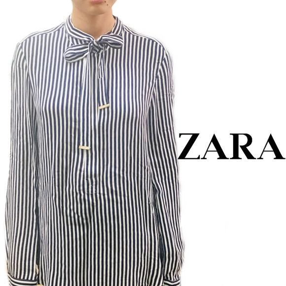 e9ad14a1 Zara Tops   Striped Long Sleeve Tuniclong Shirt Size S   Poshmark